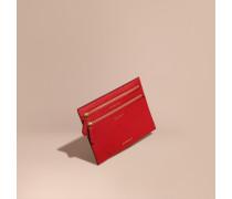 Brieftasche aus genarbtem Leder für verschiedene Währungen