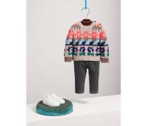 Pullover aus Wolle und Kaschmir mit vergrößertem Fair-Isle-Muster