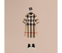 Hemdkleid aus Baumwolle mit Check-Muster