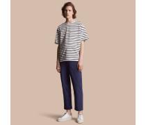 Extragroßes T-Shirt aus Baumwolle mit Streifenmuster