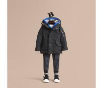 Mantel mit Daunenweste und abnehmbarer Kapuze