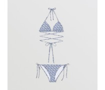 Triangelbikini mit Monogrammmuster