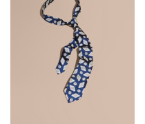 Modern geschnittene Krawatte aus Seidenjacquard mit geometrischem Muster