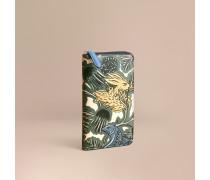Beasts-Brieftasche aus Leder mit umlaufendem Reißverschluss