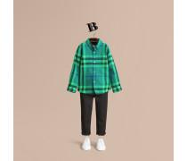 Hemd aus Baumwollflanell mit Karomuster und Button-down-Kragen