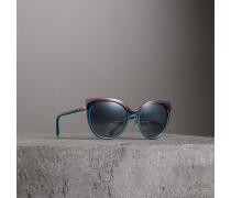 Cat-Eye-Sonnenbrille in Zweitonoptik