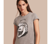 """T-Shirt aus Baumwolle mit """"Pallas Helmet""""-Motiv"""