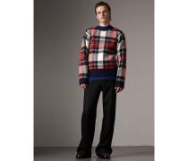 Pullover aus Kaschmir und Wolle mit Schottenmuster