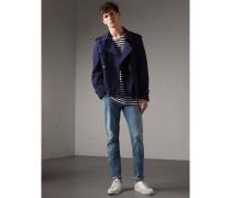 Gerade geschnittene Jeans aus Denim in heller Waschung