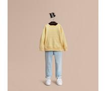 Sweatshirt aus pigmentgefärbtem Baumwolljersey