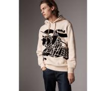 Sweatshirt aus Baumwolle mit Kapuze und Ritteremblem