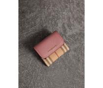 Brieftasche aus Haymarket Check-Gewebe und Leder