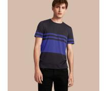 Baumwoll-T-Shirt mit Streifenmuster