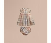 Baumwollkleid in verwaschenem Check
