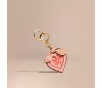 """Schlüsselanhänger mit """"Young Love""""-Motiv aus Leder"""