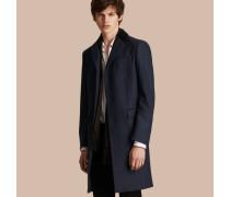 Mantel aus Wolle und Kaschmir mit Samtkragen