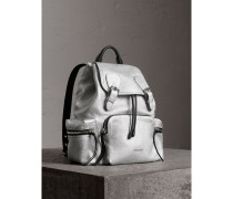The Medium Rucksack aus Hirschleder mit Metallic-Effekt