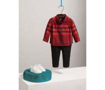 Baumwollhemd mit Karomuster und Button-down-Kragen