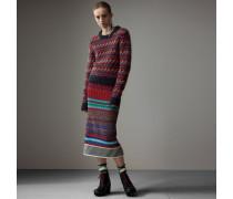 Pullover aus Wolle und Mohair mit Fair Isle-Strickmuster