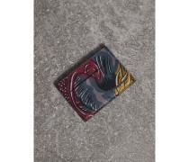 Kartenetui aus Leder mit  Beasts-Aufdruck