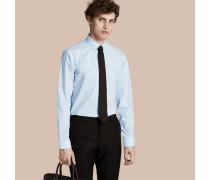 Modern geschnittenes Baumwollhemd mit Button-down-Kragen und Vichy-Muster