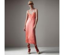 Lingerie-Kleid aus Seide mit Chantilly-Spitzenbesatz