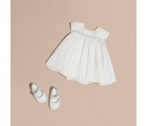 Besticktes Kleid aus Taft mit Pumphose