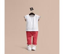 T-Shirt aus Baumwolle mit Karobesatz