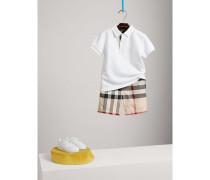 Chino-Shorts aus Baumwolle im Karodesign