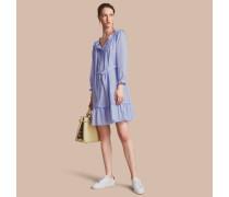 Kleid aus Baumwolle mit Rüschen- und Biesendetail