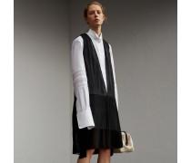 Hemdkleid aus Seide und Baumwolle mit niedrig angesetzter Taille