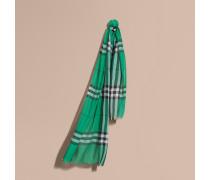 Leichter Schal aus Wolle und Seide mit Karomuster
