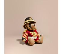 Burberry-Teddybär im Armeestil aus Kaschmir mit Karomuster