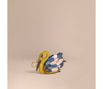The Swan - Münzbörse aus Leder und Haymarket Check-Gewebe