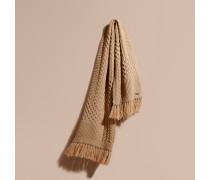 Extragroßer Schal aus Wolle und Kaschmir mit Aran-Strickmuster
