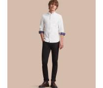 Oxford-Hemd aus Baumwolle mit Button-down-Kragen und Karodetail