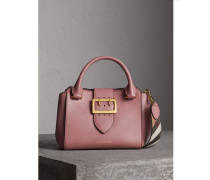 The Small Buckle Tote aus genarbtem Leder