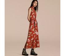 Seidenkleid In Floraler Fil Coupé-webung