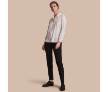 Bluse aus Seide mit farblich abgestimmtem Karomuster