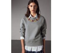 Sweatshirt aus Jersey mit Schmucksteinbesatz
