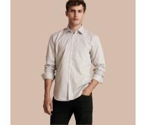 Modern geschnittenes Baumwollhemd mit Mikro-Druck