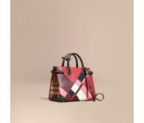 The Medium Banner aus Leder im Colour-Blocking-Design