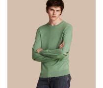 Pullover aus Kaschmir und Baumwolle mit Karodetail