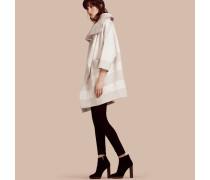 Extragroßer Mantel aus Stretchwolle und Kaschmir mit breitem Kragen
