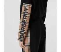 Langärmeliges Oversize-Poloshirt