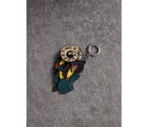 Beasts-Schlüsselanhänger aus Leder mit Ziernieten