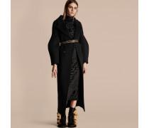 Mantel aus Wolle mit Puffärmeln