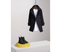 Zweireihiger Mantel aus Wolle