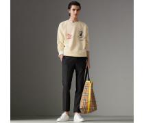 Sweatshirt aus Baumwolle mit Porträtmotiv und Logo