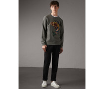 Sweatshirt aus Baumwolle mit  Beasts-Applikation